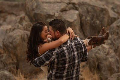 Rip and Beth engagement session Yellowstone themed