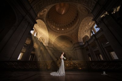 Bride at San Francisco City Hall wedding