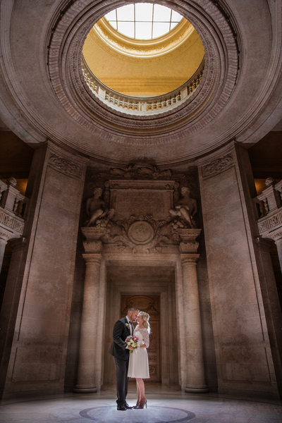 San Francisco City hall wedding, elopement photography