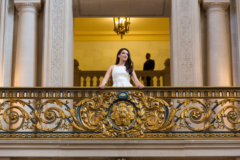 bride mayors balcony