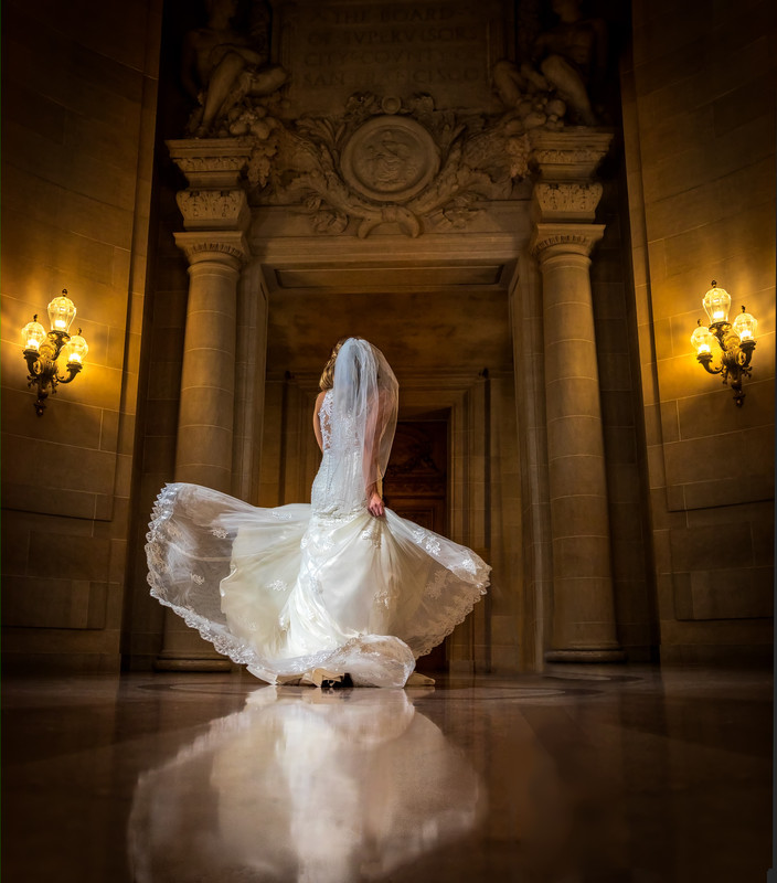 Flowing Wedding Dress, Rotunda