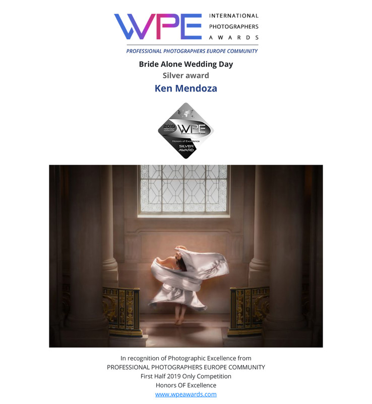 WPE - International Photographers Awards - Certificate delivered to Ken Mendoza