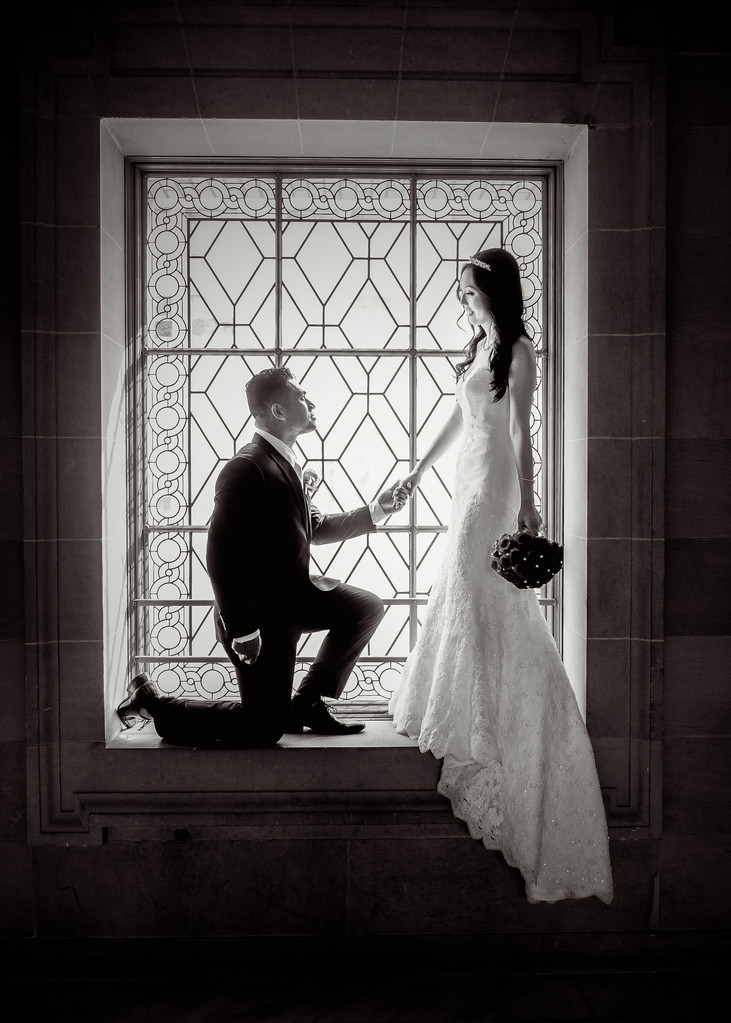 phillipino groom black and white window lighting