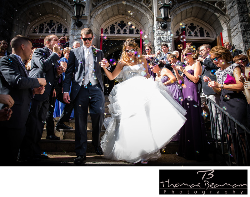 Awesome Harrisburg Wedding Ceremony With Bubbles