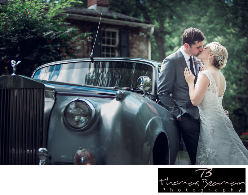 Peter Allen House Rolls Royce Wedding Photo