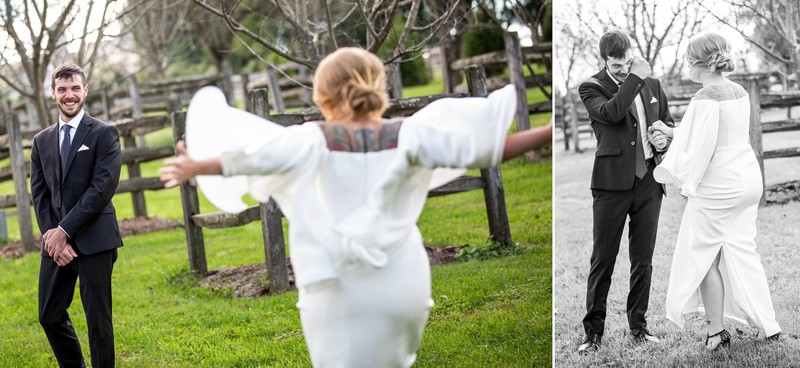 Ironstone Ranch wedding first look