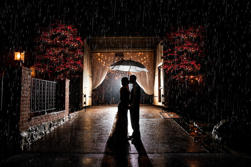 Ironstone Ranch Wedding in the Rain Photo