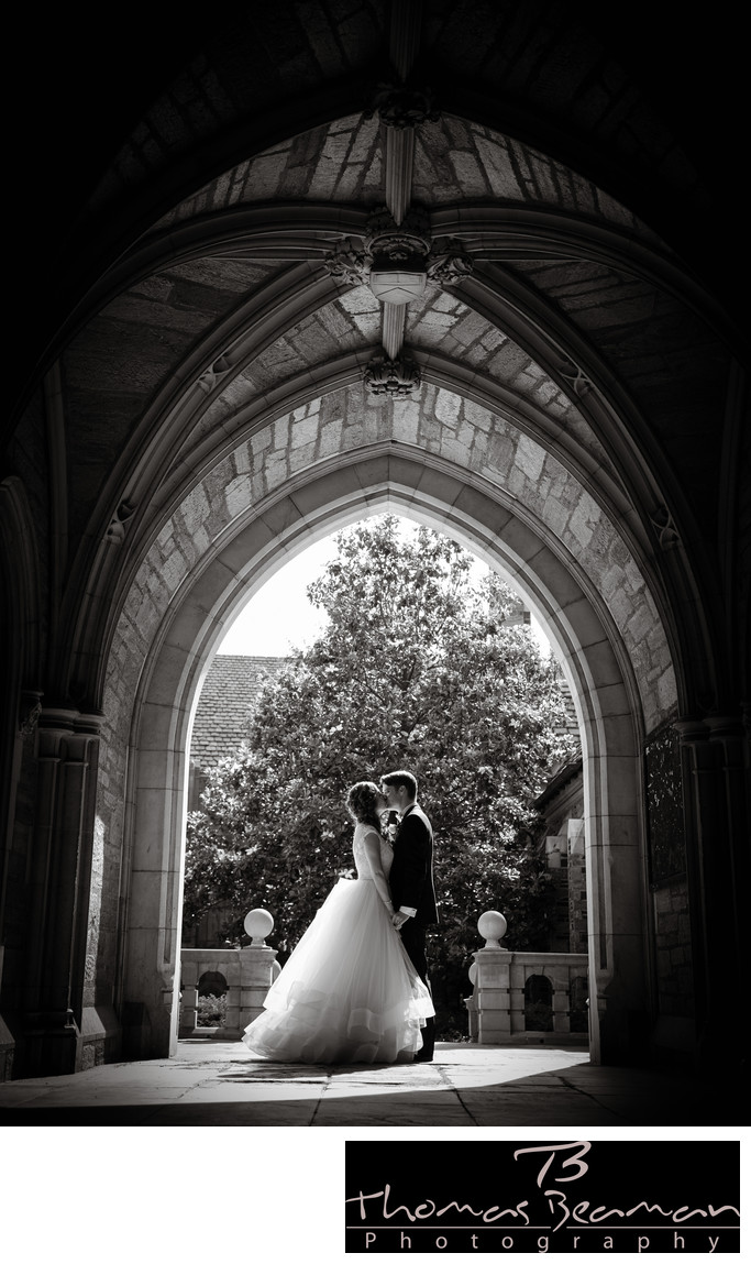 Princeton University Wedding Photo in Perfect Light