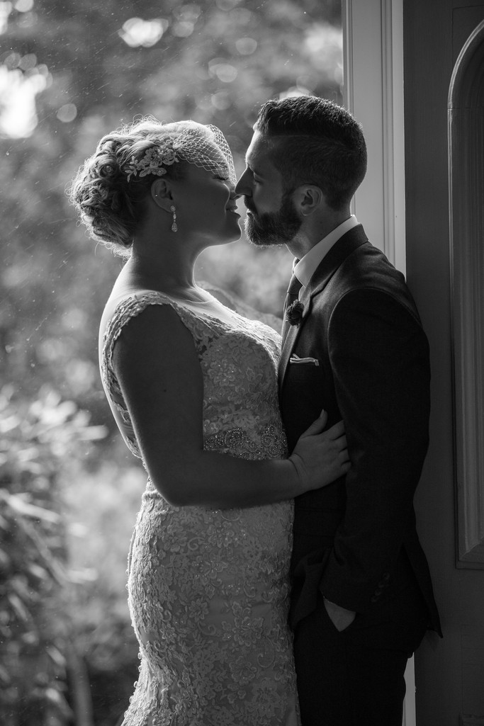 Romantic Moment Between Bride and Groom | Central PA
