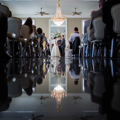 Conservatory Wedding Ceremony at Cameron Estate