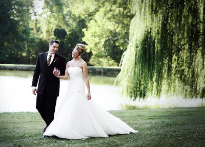 West Shore Country Club Wedding Photo with Willow Trees