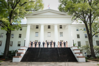 Gettysburg College Wedding Photos of Bridal Party