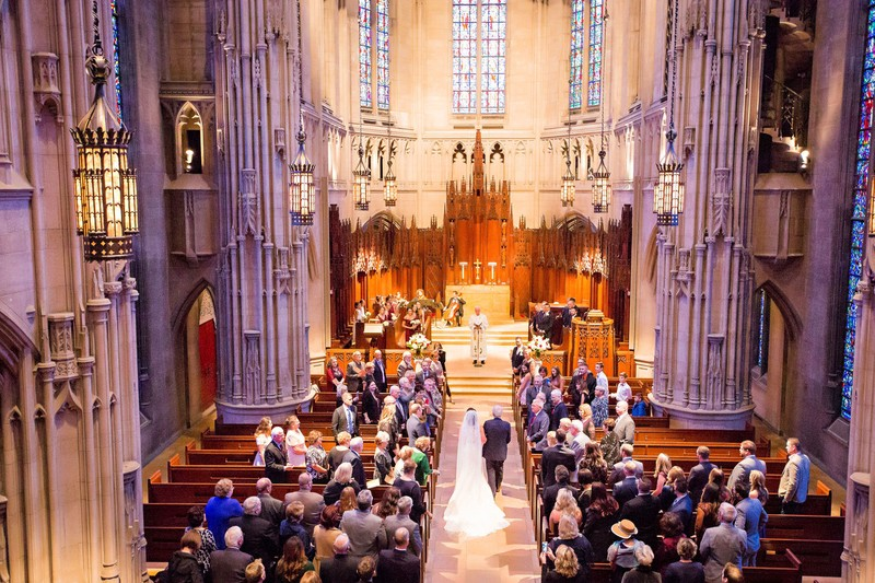 heinz chapel wedding ceremony photos