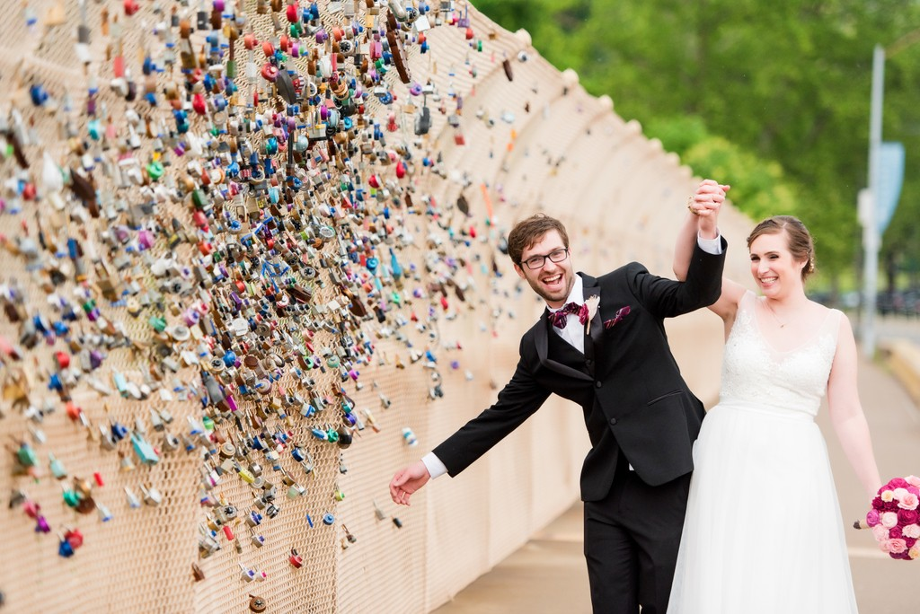 University of Pittsburgh Schenley Lock Bridge Wedding