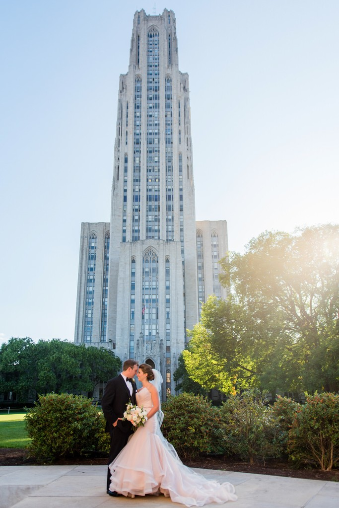 Wedding Photo Cathedral of Learning Pittsburgh