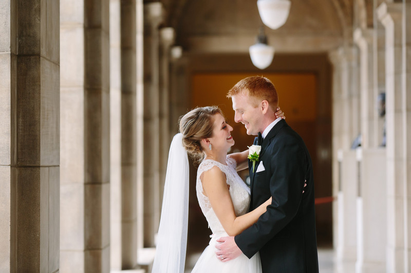 Nebraska State Capitol Bride and Groom Portrait
