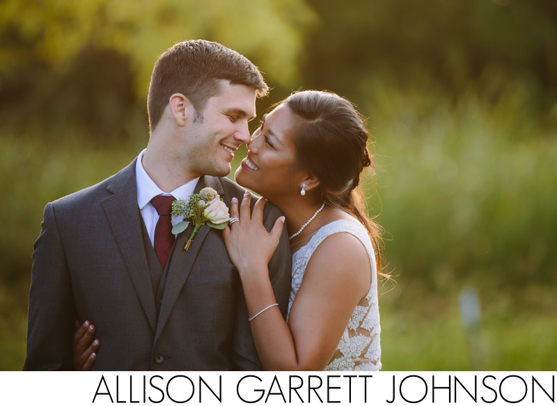 Sunset Wedding Shoot at Fountains Ballroom Iowa