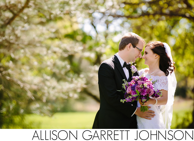 Beautiful Spring Wedding Portrait at Holmes Lake