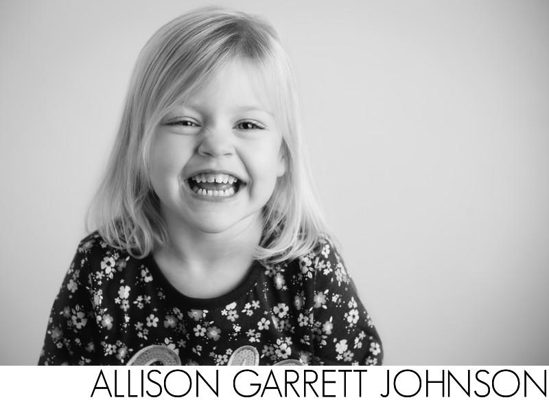 Adorable Three Year Old Girl in Studio