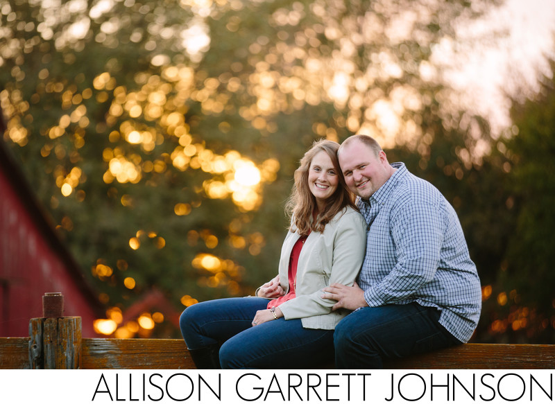 Engagement Shoot with Barn at Sunset