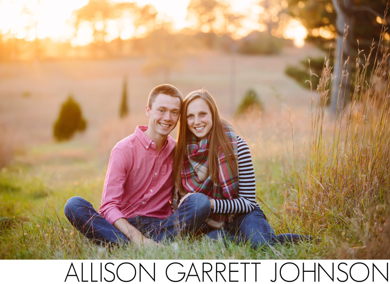 Beautiful Sunset Engagement Session