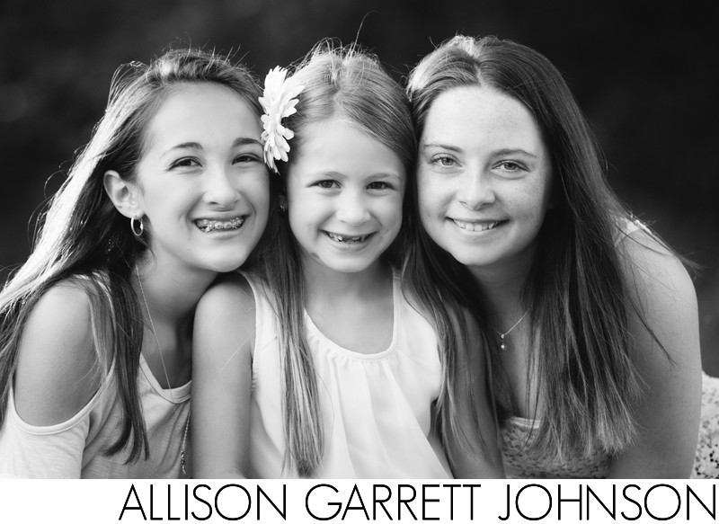 Three Beautiful Sister in Black and White