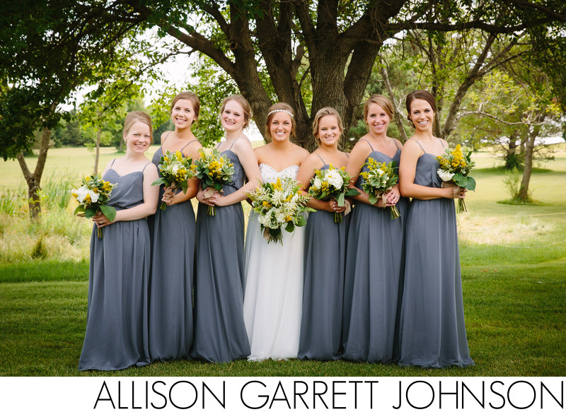 Bride and Bridesmaids at NuMark Golf Club