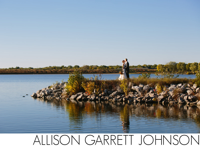 Holmes Lake Scenic Pier Wedding Portrait