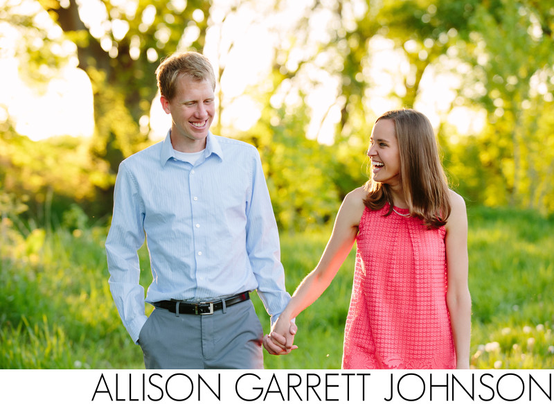 Bright Spring Engagement Shoot