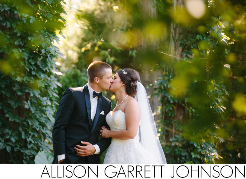 Bride and Groom Portrait at Sunken Gardens