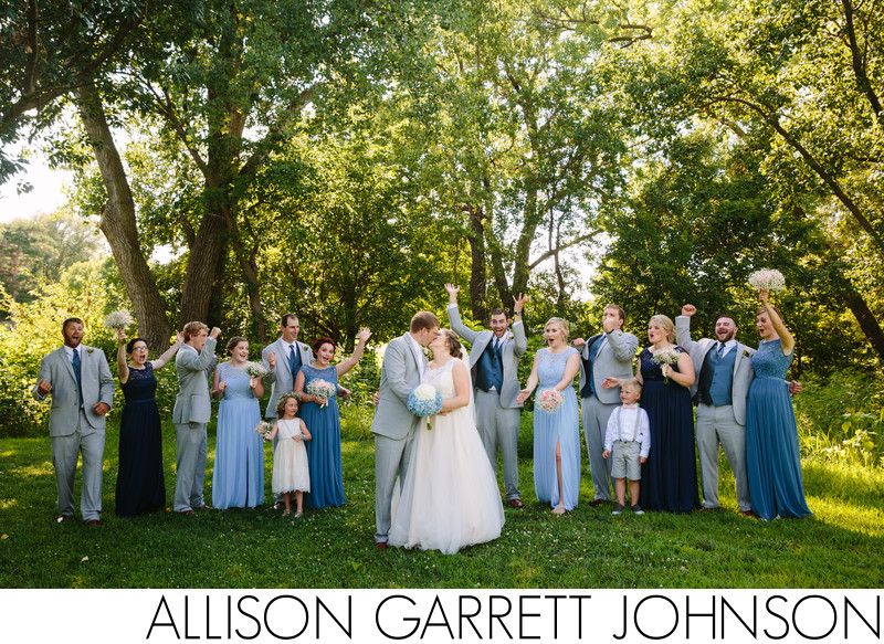 Roper Park Wedding Party Group Photo