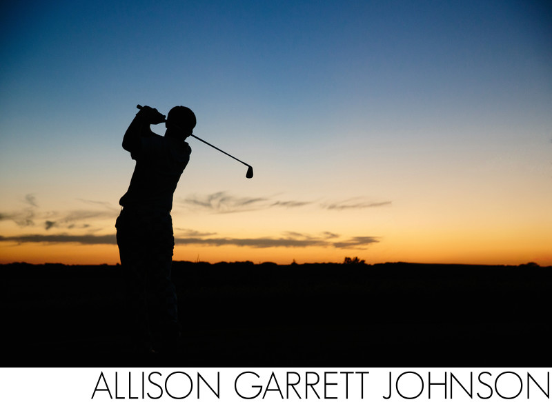 Golf Sunset Senior Picture