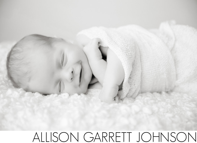 Smiling Newborn Photography Lincoln