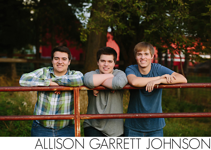 Senior Pictures with Triplets