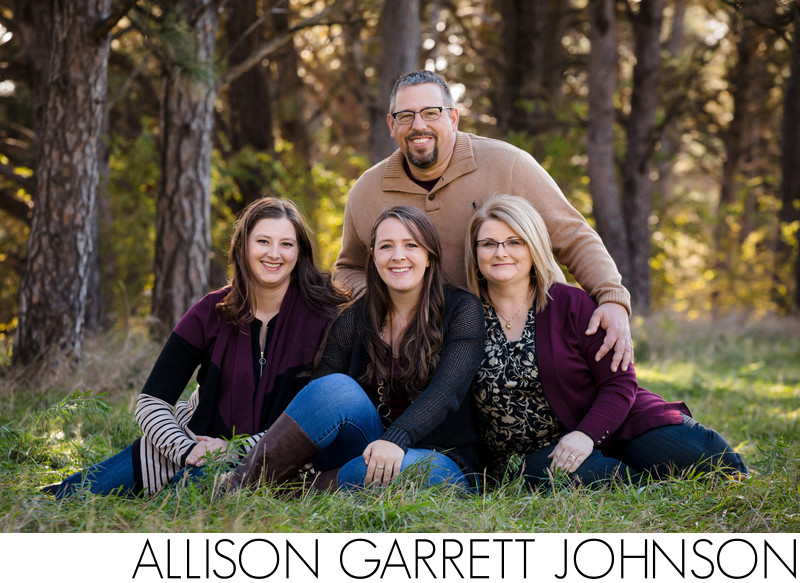 Adult Family Photos at Pioneers Park