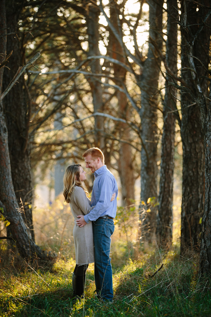 Engagement Session in the woods at Pioneers Park