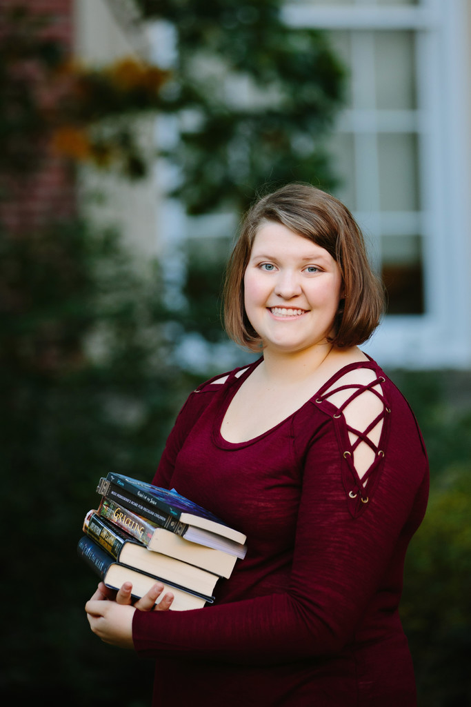 Senior Portraits at Love Library Lincoln, Nebraska