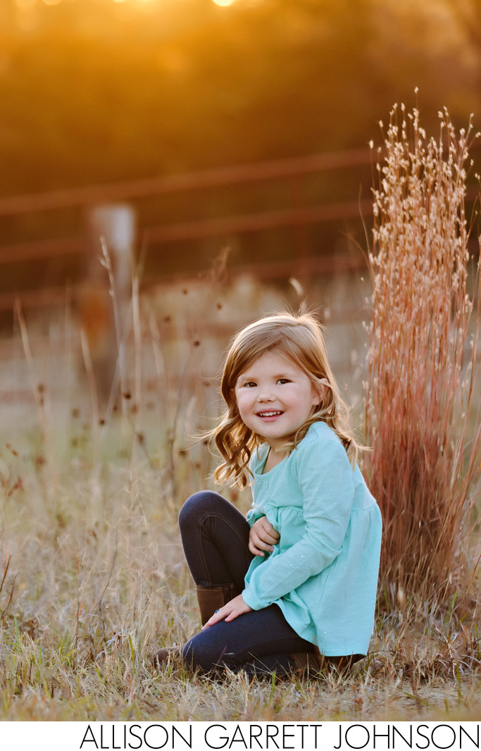 Photo of Young Girl at an Acreage Near Garland, NE