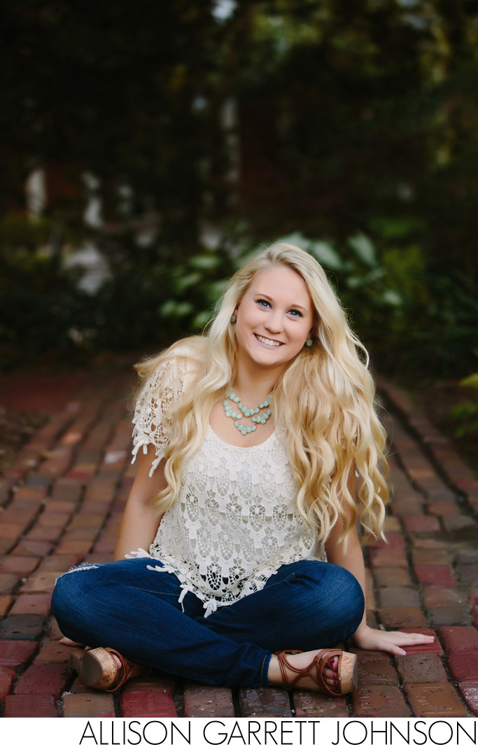 Beautiful Senior Girl in Sunken Gardens