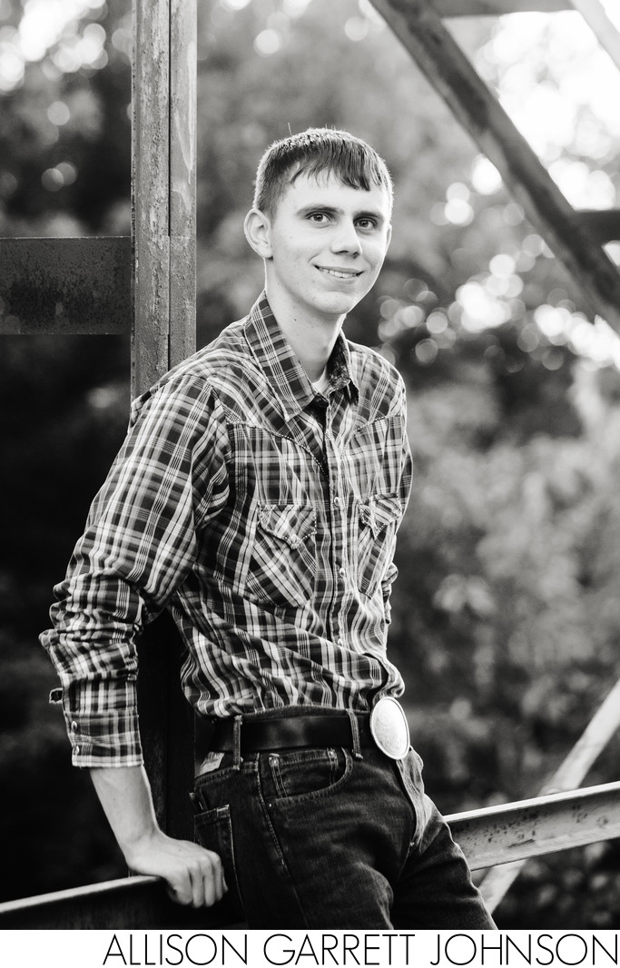Rustic Bridge Senior Portraits Seward