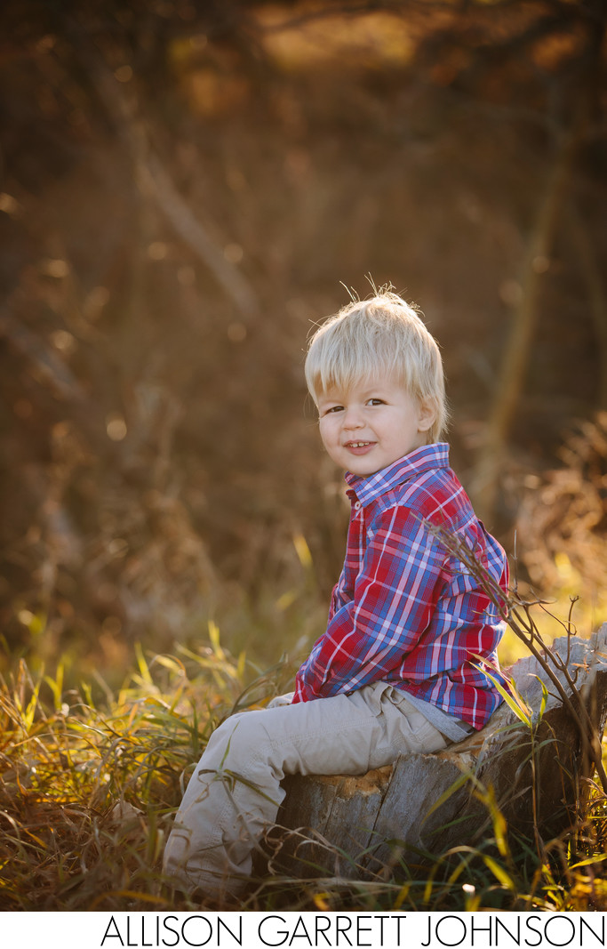 Young Boy Photographed at Home Acreage
