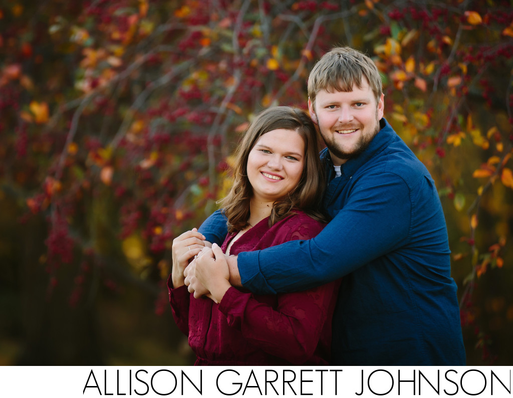 Fall Engagement Photos in Seward at Fairgrounds