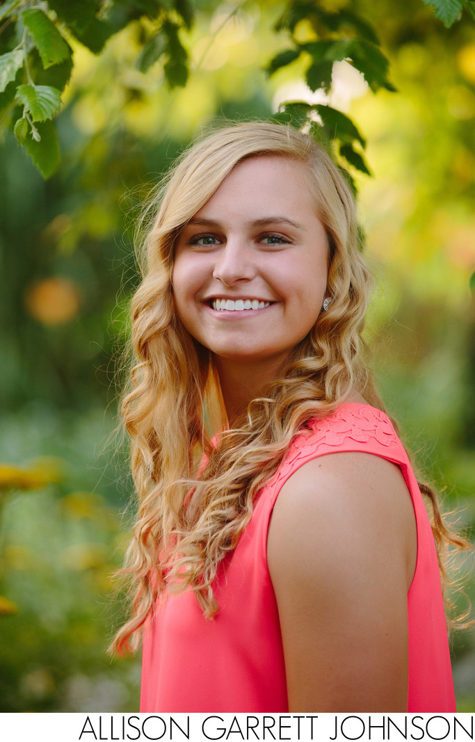 Senior at Plum Creek Park Flower Garden