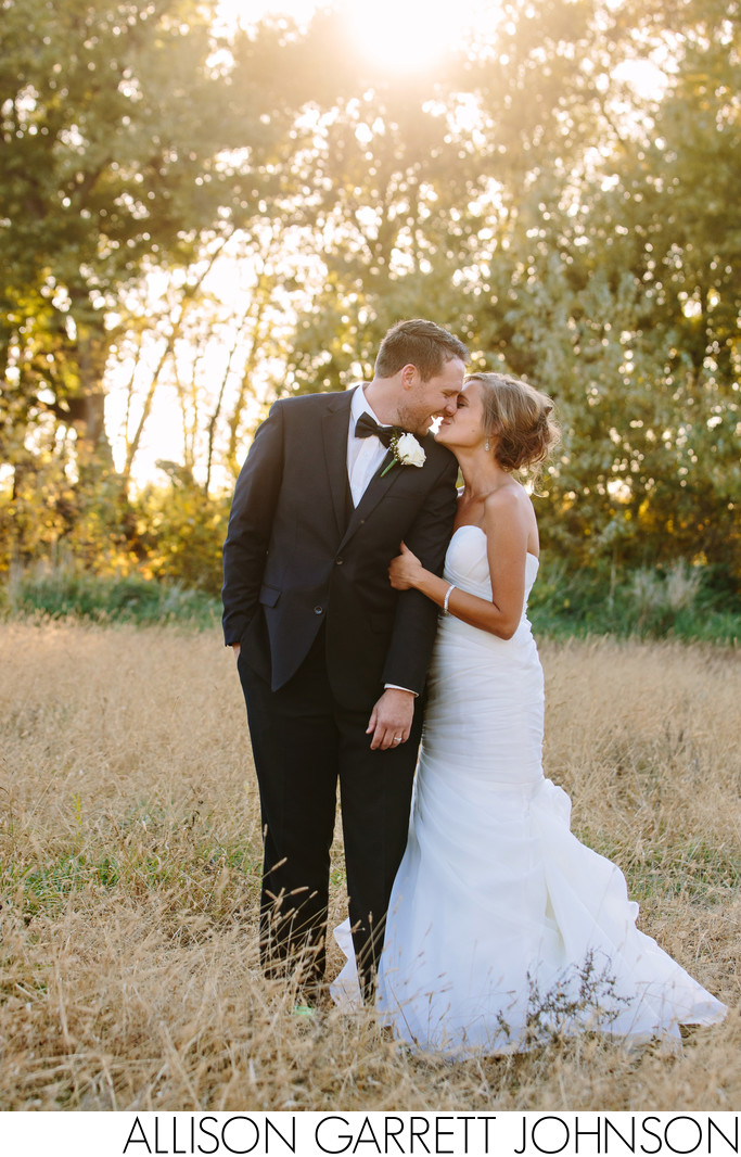Rustic Wedding Portrait with Gorgeous Light