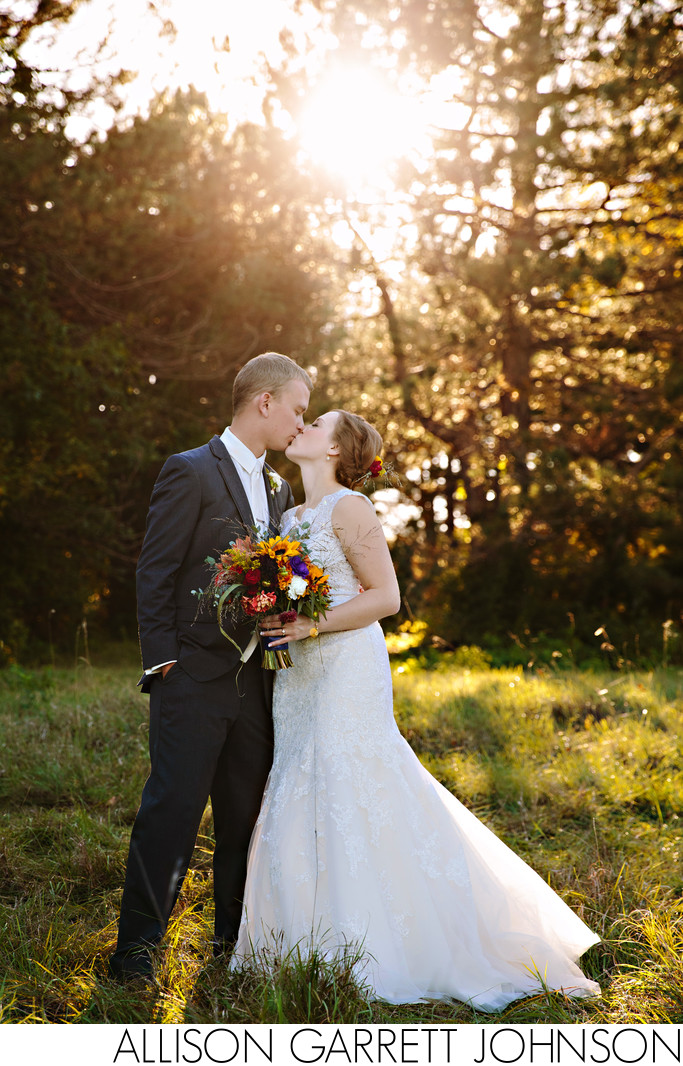 Beautiful Fall Wedding Picture Holmes Park