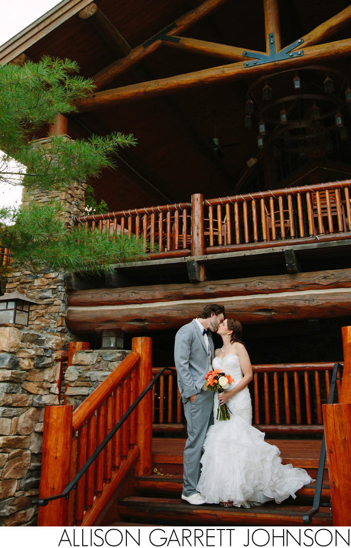 Wilderness Ridge Back Deck Wedding