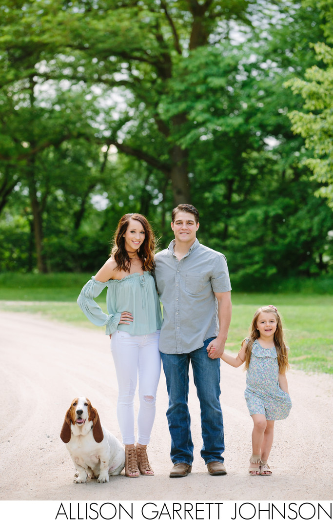 Spring Outdoor Family Portraits with dog at Seward Park