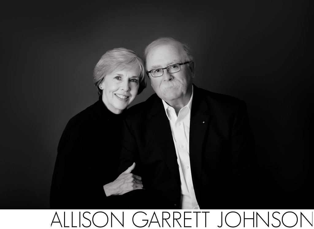 Couples Studio Portrait in Black and White