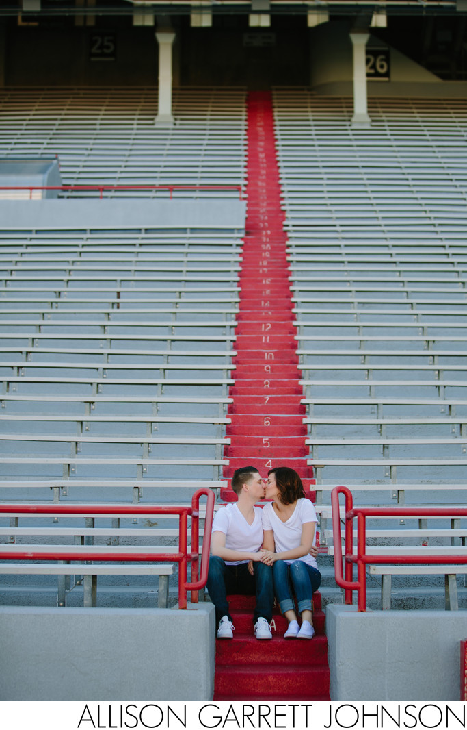 Memorial Stadium Engagement Photos