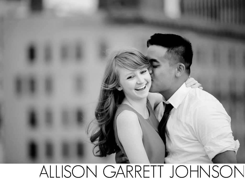 Downtown Lincoln Engagement Photos